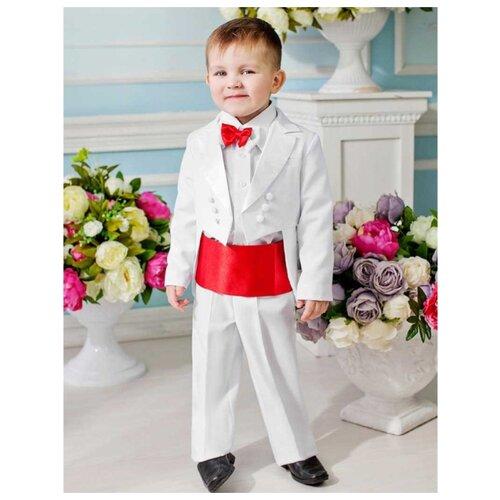 Комплект одежды Liola размер 92, белый/красный комплект одежды liola размер 134 белый красный