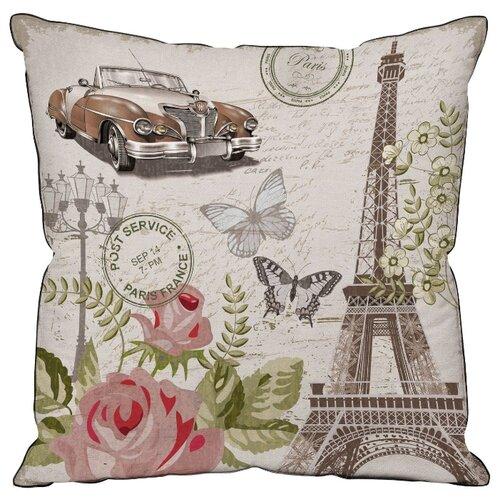 Подушка декоративная Традиция Париж, 40 х 40 см бежевый/серый/коричневый подушка декоративная led со светодиодами 40 х 40 см 175061
