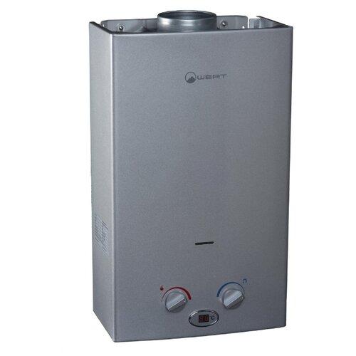 Проточный газовый водонагреватель Wert 10LC, silver