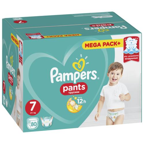Купить Pampers трусики Pants 7 (17+ кг) 80 шт., Подгузники