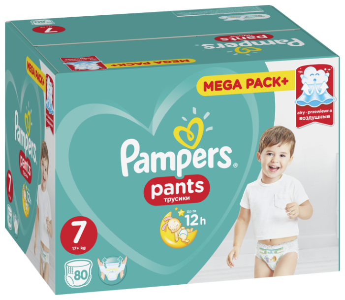 Pampers трусики Pants 7 (17+ кг) 80 шт.