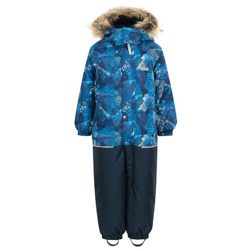 Купить Комбинезон KERRY FUN K18409 размер 86, 2290 голубой/синий/белый, Теплые комбинезоны