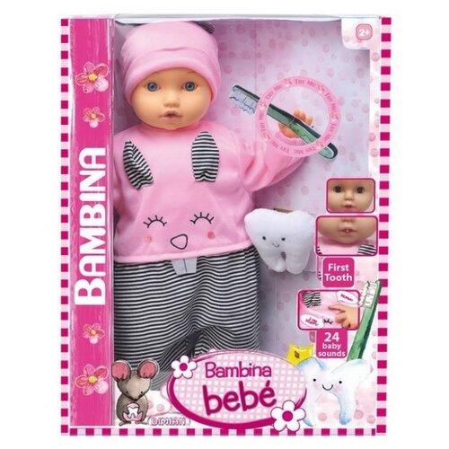 Купить Интерактивная кукла Dimian Bambina Bebe Мой первый зуб, 46 см, BD1378-M30, Куклы и пупсы