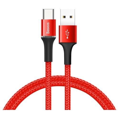 Кабель Baseus Halo Data Cable USB - USB Type-C (CATGH-A) 0.5 м красныйКомпьютерные кабели, разъемы, переходники<br>