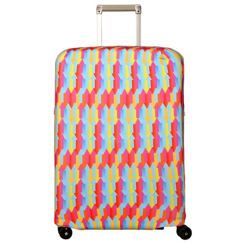Чехол для чемодана ROUTEMARK Вверх тормашками SP180 M/L, разноцветный