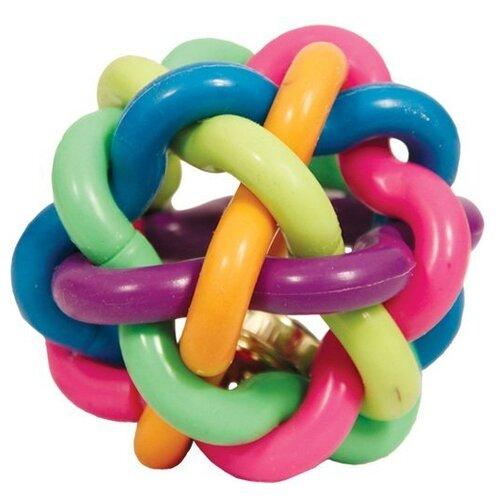 Мячик для собак Triol Мяч-лабиринт с колокольчиком 9,5 см 12191063 разноцветный