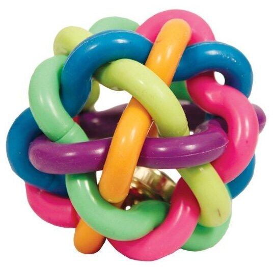 Мячик для собак Triol Мяч-лабиринт с колокольчиком 9,5 см 12191063