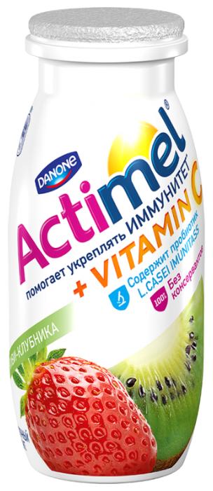 Кисломолочный напиток Actimel киви-клубника 2.5%, 100 г