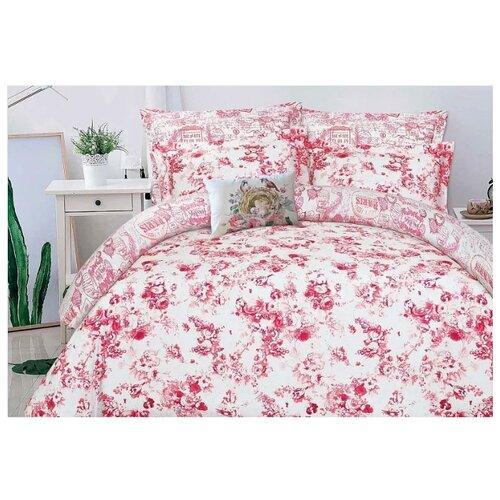 цена Постельное белье 2-спальное Mona Liza Ceramic Pink on white, сатин розовый/белый онлайн в 2017 году