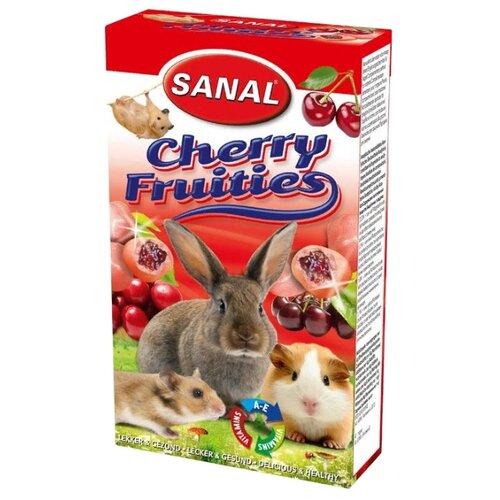 Лакомство для кроликов, грызунов SANAL Cherry Fruities с начинкой из спелой вишни и витаминами A, E 50 г