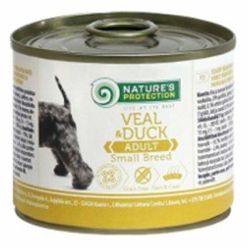 Корм для собак Nature's Protection Консервы Dog Adult Small Breed Veal & Duck