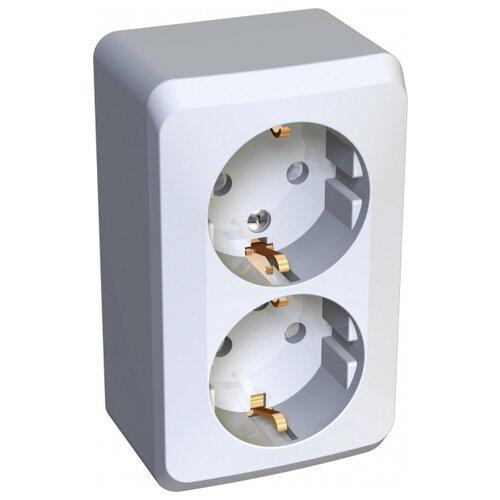 Розетка Schneider Electric PA16-008B,16А, с защитной шторкой, с заземлением, белый розетка xiaomi mi smart plug wifi 16а с защитной шторкой с заземлением белый
