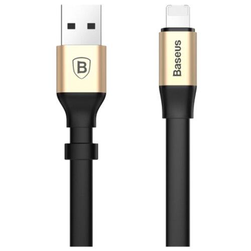 Кабель Baseus 2in1 Portable USB - Lightning/microUSB (CALMBJ) 0.23 м черный/золотистый baseus многоцветный 03 м