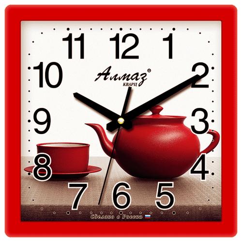 Часы настенные кварцевые Алмаз K07 красный/белый бампер dongfeng k17 k07 k07 page 5