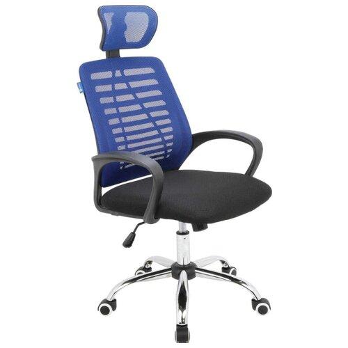 Кресло для руководителя Alsav кресла AL 777, обивка: текстиль, цвет: ткань черная/сетка синяя