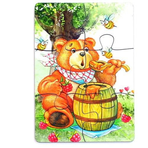 Пазл PAREMO Медведь (PE720-60), 6 дет. пазл paremo лев pe720 66 6 дет