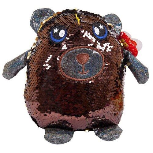 Купить Мягкая игрушка ABtoys Медведь с пайетками 20 см, Мягкие игрушки