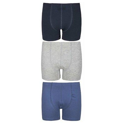 Купить Трусы BAYKAR 3 шт., размер 158/164, серый/синий, Белье и пляжная мода