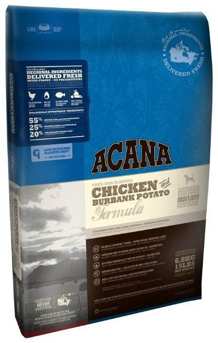 Корм для собак Acana Classics для здоровья кожи и шерсти, курица с картофелем 6.8 кг