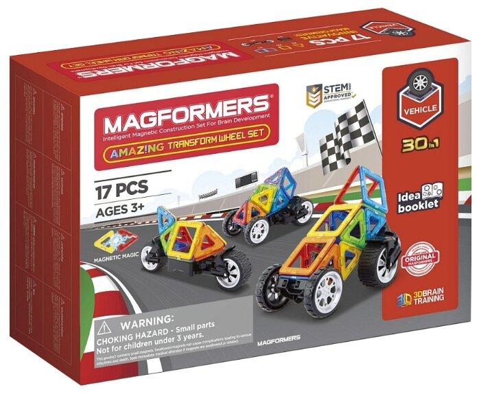 Магнитный конструктор Magformers Vehicle 707019 Колеса-трансформеры фото 1
