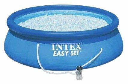 Детский бассейн Intex Бассейн надувной прямоугольный с надувным полом