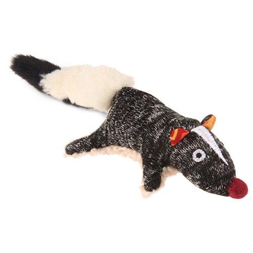 Фото - Игрушка для собак GiGwi Plush Friendz Скунс (75386) серый/бежевый лежак для собак и кошек gigwi snoozy friendz кот 57х57х4 см серый