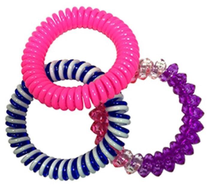 Резинка Clarette 356 3 шт. синий/фиолетовый/розовый