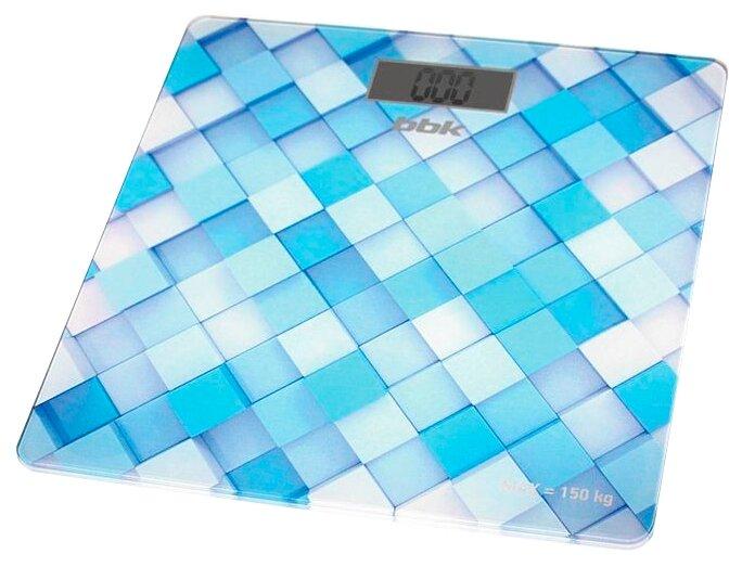Весы электронные BBK BCS3001G голубой