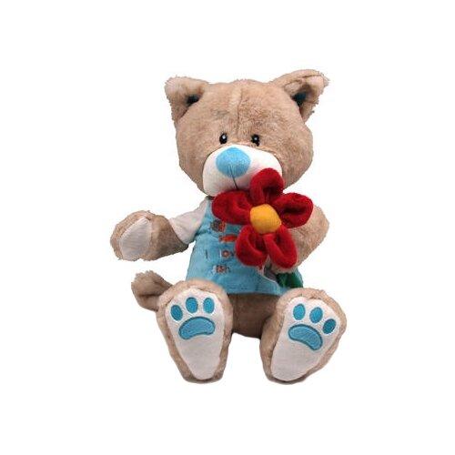 Мягкая игрушка Magic Bear Toys Кот Панайот с цветком 30 смМягкие игрушки<br>
