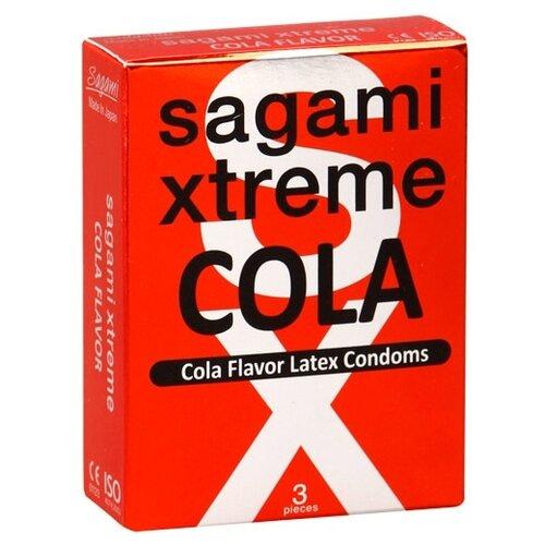 Презервативы Sagami Sagami Xtreme COLA (3 шт.) sagami 6 fit v premium 12шт презервативы супер облегающие латекс 0 06 мм