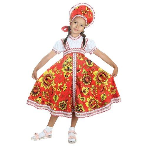 Купить Костюм Страна Карнавалия Хохлома для девочки (2763359-2763378), красный, размер 122-128, Карнавальные костюмы