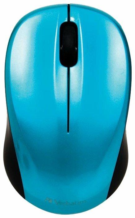 Мышь Verbatim Wireless Mouse Go Nano Blue USB