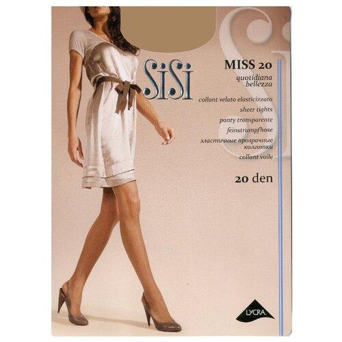 Колготки Sisi Miss 20 den, размер 4-L, daino (бежевый) колготки sisi style 70 den размер 4 l daino бежевый