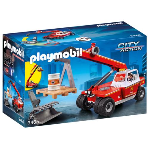 Набор с элементами конструктора Playmobil City Action 9465 Пожарная служба: Пожарный Кран набор машинок siku пожарная служба 1818rus