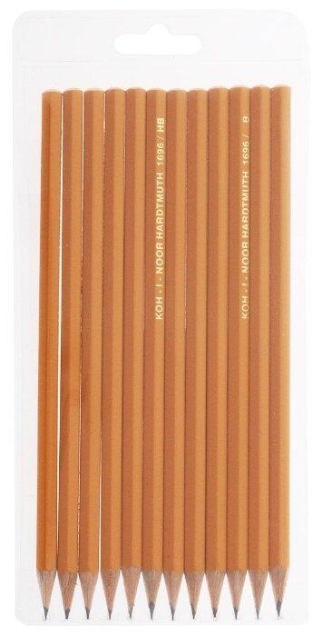 KOH-I-NOOR Набор чернографитных карандашей 1696 12 шт (1696012043TE)