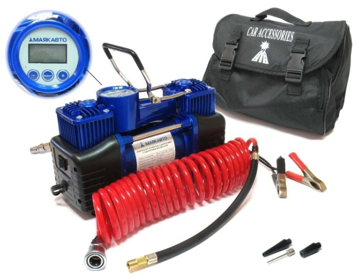 Автомобильный компрессор МАЯКАВТО АС 630МА черный/синий - Характеристики - Яндекс.Маркет (бывший Беру)