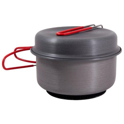 Набор туристической посуды ECOS CW010, 2 шт. черный/красный