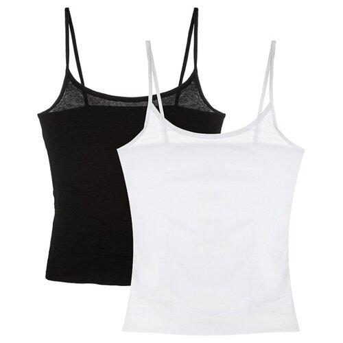 Майка DIM 00JJ размер S, negro/blanco