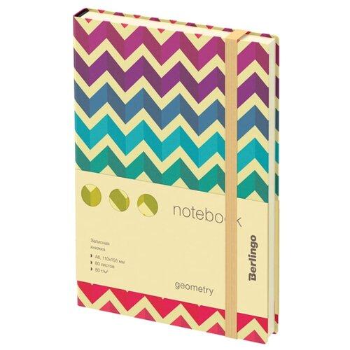 Ежедневник Berlingo Geometry недатированный, искусственная кожа, А6, 80 листов, разноцветный, Ежедневники, записные книжки  - купить со скидкой
