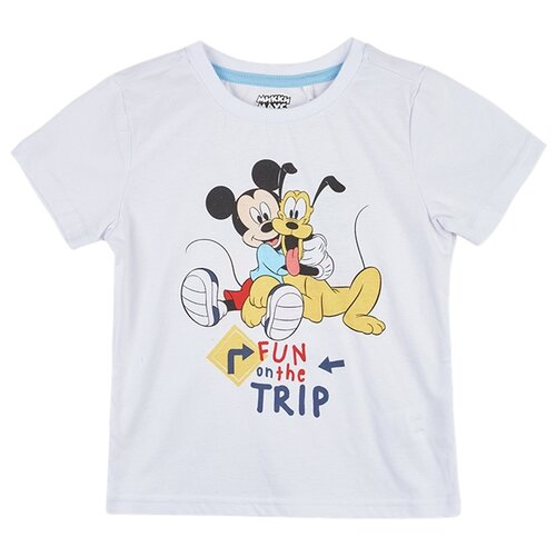 Футболка kari Mickey Mouse размер 5-6, белыйФутболки и майки<br>