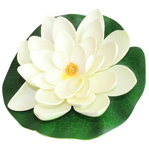Фигура для водоема Inbloom Лилия декоративная 15 см (171-002) белый
