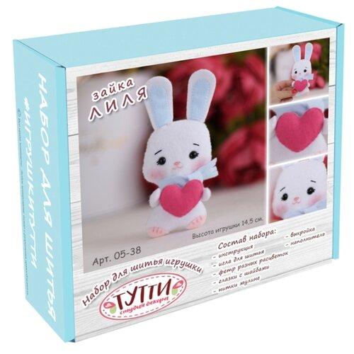Купить Тутти Набор для творчества шьем из фетра Зайка Лиля с сердечком (05-38), Изготовление кукол и игрушек