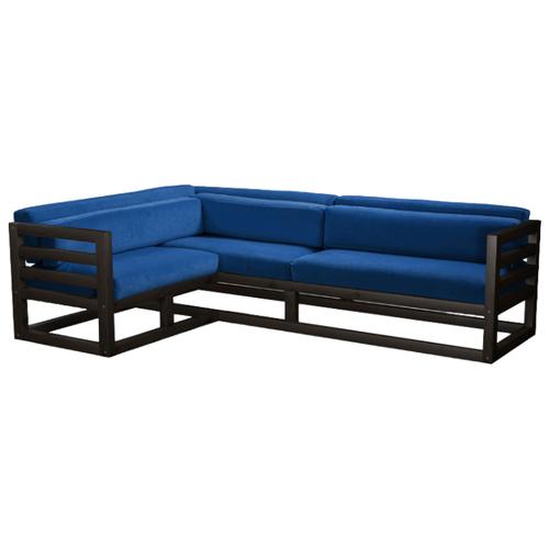 Угловой диван AnderSon Магнус угол: слева, размер: 250х170 см, обивка: ткань, венге/синий диван угловой диван магнус магнус