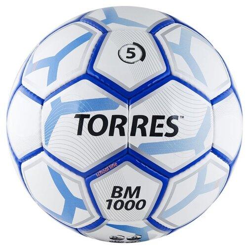 Футбольный мяч TORRES BM 1000 белый/синий/серебристый 5Мячи<br>