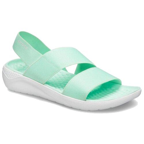Сандалии Crocs LiteRide Stretch , размер 37(W7) , neo mint/almost white