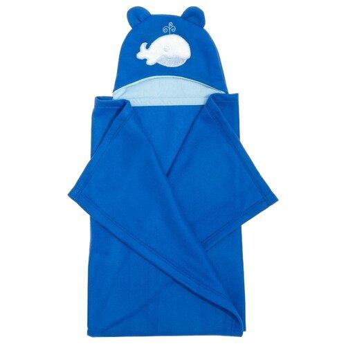 Купить Плед Guten Morgen Кит 70х100 см голубой, Покрывала, подушки, одеяла