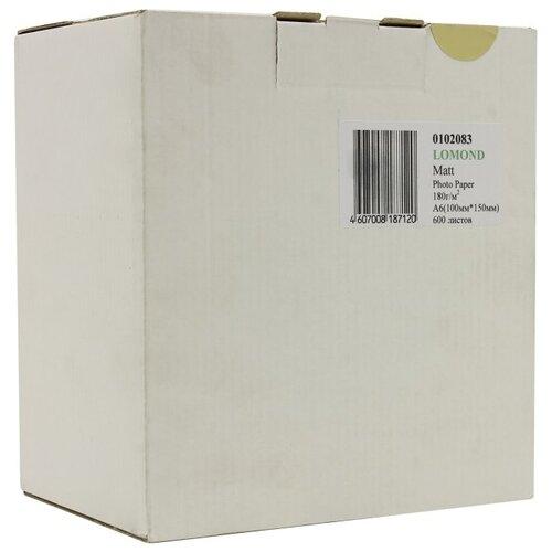 Фото - Бумага Lomond A6 Photo Paper 0102083 180 г/м² 600 лист., белый бумага lomond a6 0102082 230 г м2 500 лист