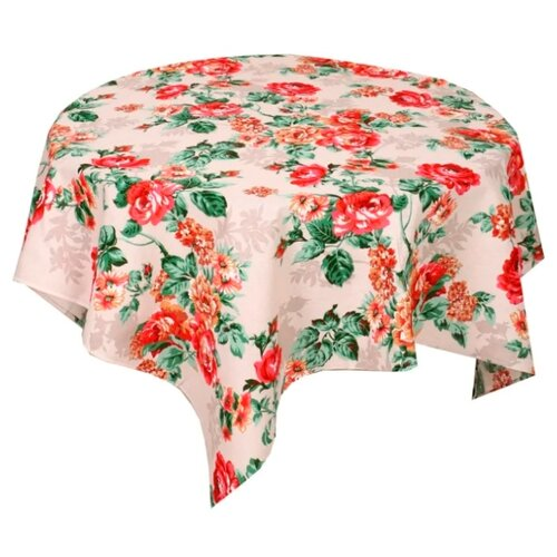 Скатерть Текстильная лавка Розалия (Скр_150_12) 150х150 см красныеСкатерти и салфетки<br>