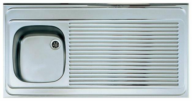 Накладная кухонная мойка ALVEUS Classic 90 120х60см нержавеющая сталь