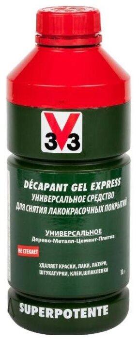 Очиститель V33 Универсальное средство для снятия лакокрасочных покрытий Decapant Gel Express